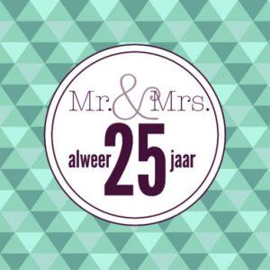 Iets Nieuws 25 jaar getrouwd huwlijkswensen. Mooie jubileum teksten 25 jarig @CJ14