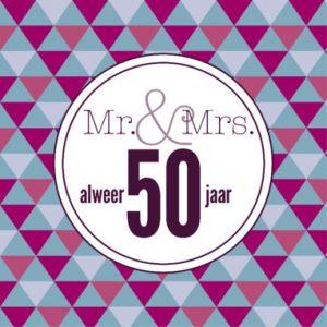Genoeg 50 Jaar Huwelijk - Mooie en Originele Huwelijkswensen #ND38